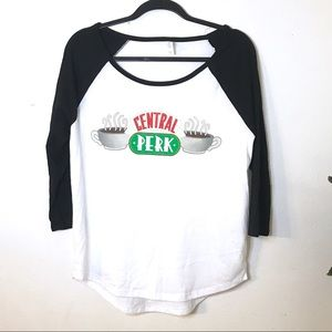 3/$30 NWOT Central Perk Friends Baseball Tee